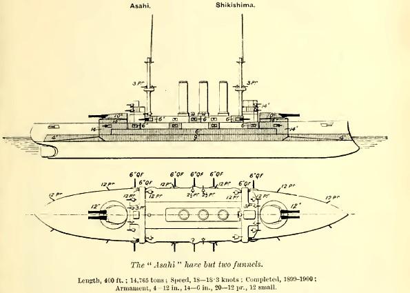 Japanske oklopnjače i preddrednoti Asahi2