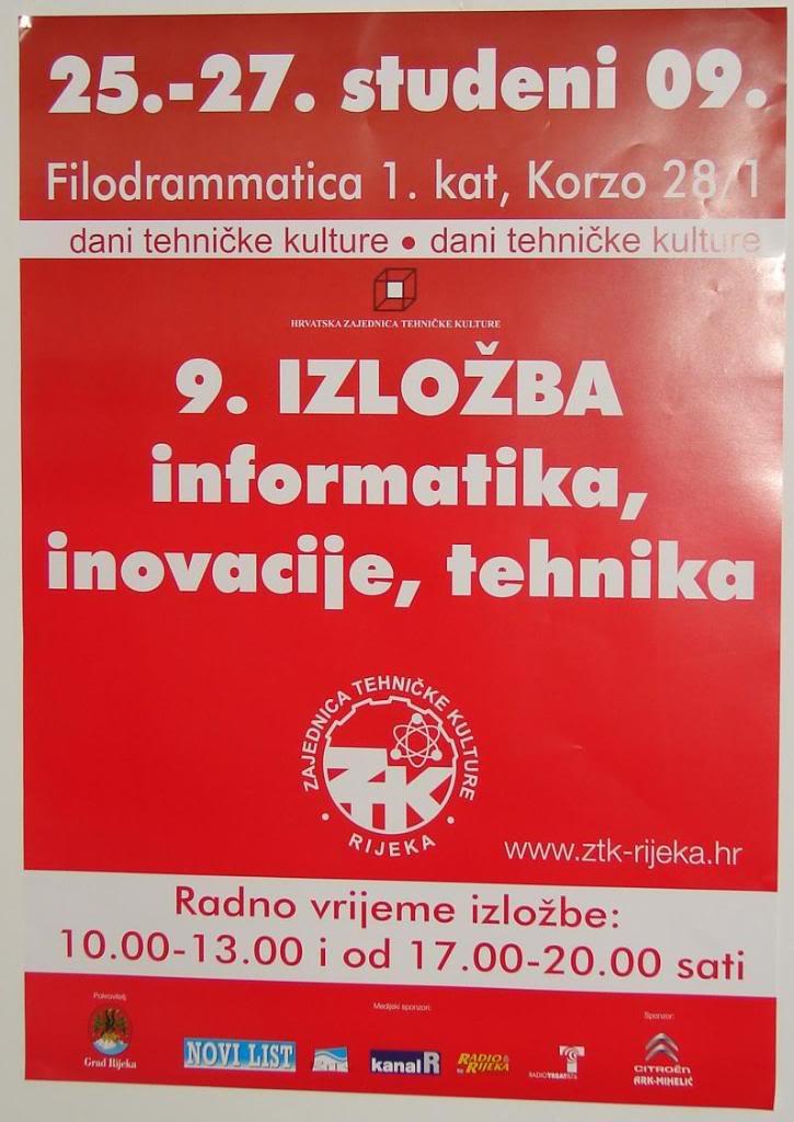 """Štacion na 9. godišnjoj izložbi """"Informatika, inovacije, tehnika"""" (ZTK Rijeka) RiIIT09-01"""