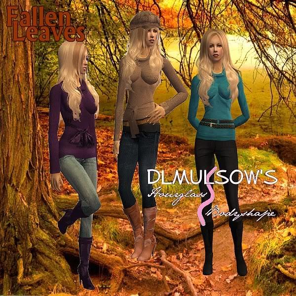 Roupas de inverno femininas HG - DLMulsow's Fallen Leaves set Outerwear HG DLM-HourglassFallenLeaves_OUTERWEAR
