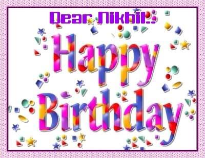 Happy Birthday Nikhil!!! Hap