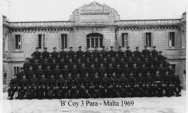 'B' Coy 3 Para - Malta 1969 3Para63-69001