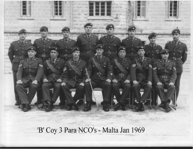 'B' Coy 3 Para NCO's - Malta 1968/69 3Para63-69019