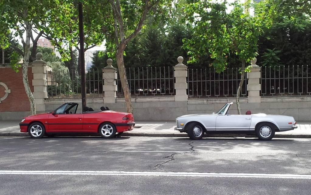 [ FOTOS ] 306 Cabrio vs/ Mercédes SL 20120530_181708