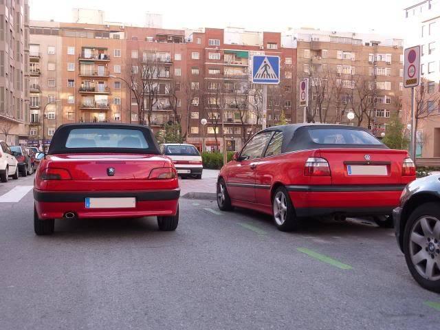 [ FOTOS ] 306 Cabrio vs/ Golf III Cabrio P1050081