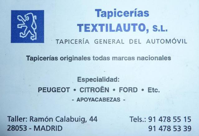 [ TAPICERO ] Textilauto S.L. - Madrid Textilauto