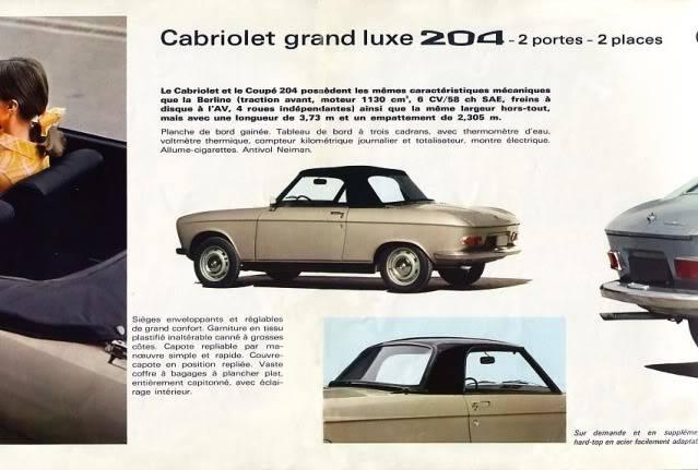 [ FOTOS ] Catalogo de los Peugeot 204 coupé y cabrio 204cab003