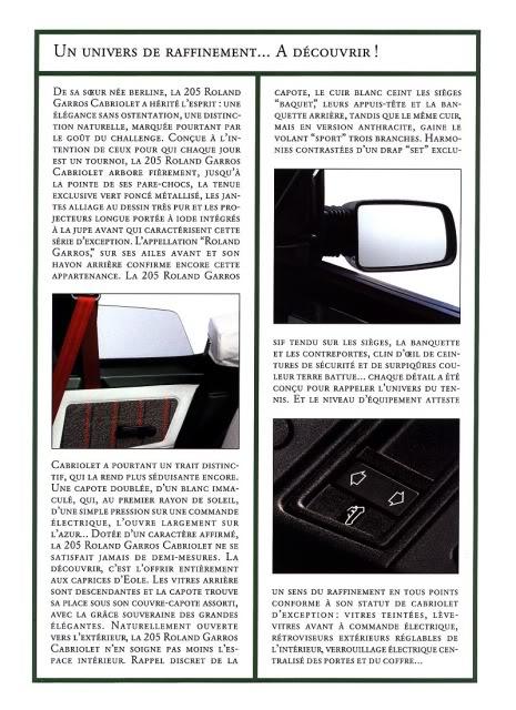 [ FOTOS ] Catalogos de los Peugeot 205 cabrio 205cab1992RG004