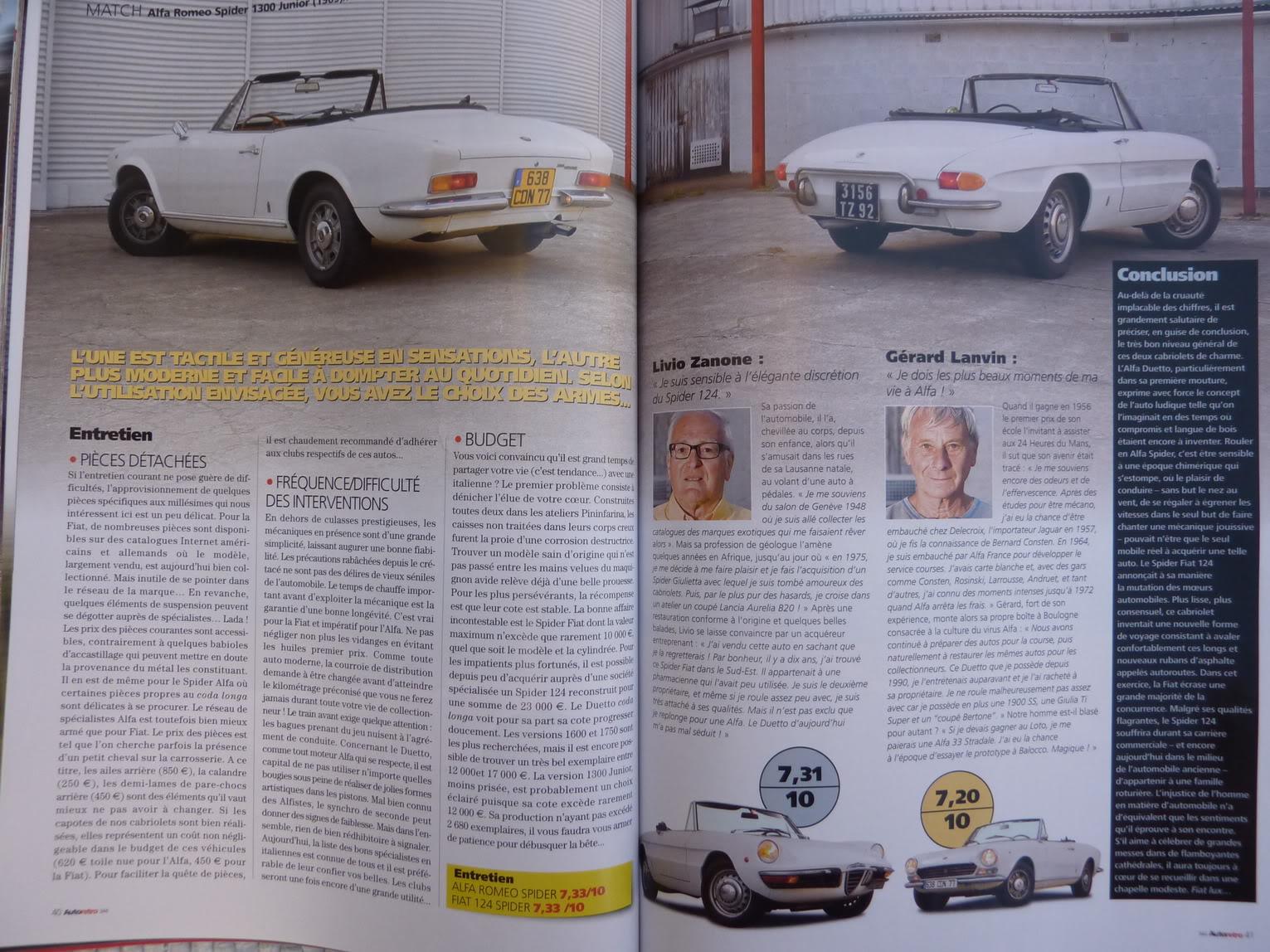 [ FOTOS ] Alfa Romeo Spider vs/ Fiat 124 Spider - Primos hermanos del 306 Cabrio P1060923