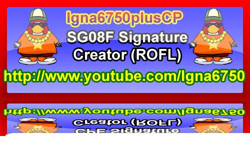 Igna6750plusCP'S Super Signature Shop! SG08FReflectionedSignature