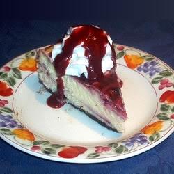 Bánh cheesecake chocolate trắng kèm mâm xôi 1020