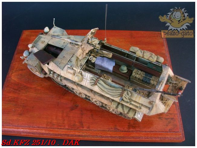 SD.KFZ 251/10 ausf B , DAK 137SdKFZ251-10peazo-gato