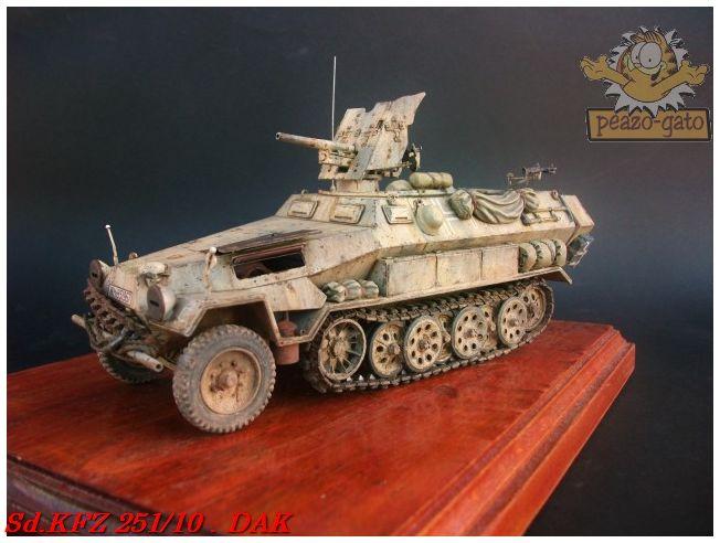 SD.KFZ 251/10 ausf B , DAK 138SdKFZ251-10peazo-gato