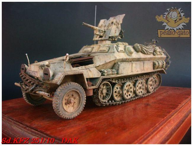 SD.KFZ 251/10 ausf B , DAK 140SdKFZ251-10peazo-gato