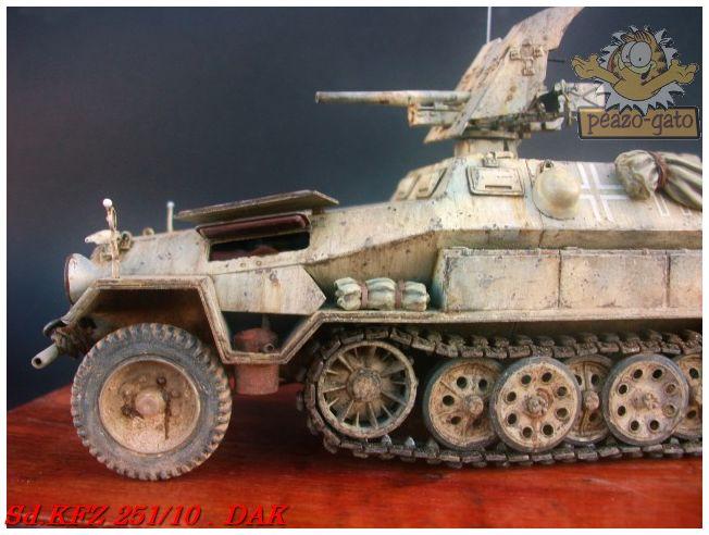 SD.KFZ 251/10 ausf B , DAK 143SdKFZ251-10peazo-gato