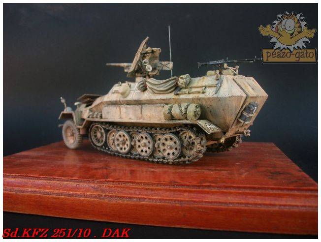 SD.KFZ 251/10 ausf B , DAK 145SdKFZ251-10peazo-gato