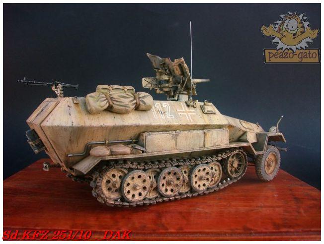 SD.KFZ 251/10 ausf B , DAK 146SdKFZ251-10peazo-gato