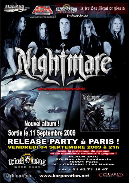 NIGHTMARE Nouvel album - Promo Day le 4/9 au Black Dog 2009-09-04-Nightmare