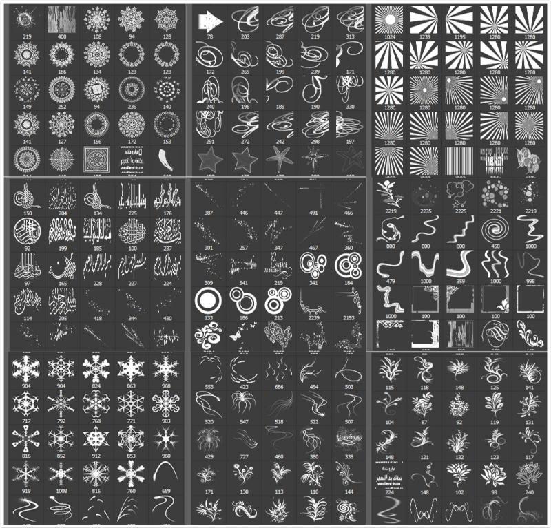 تجميعه فرش بأشكال متنوعه للفوتوشوب B2