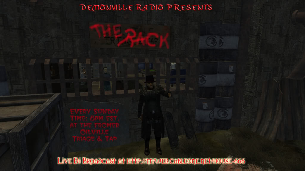 Jason Vader The Rack Live Show - Weekly RP party Event TheRackadcopy