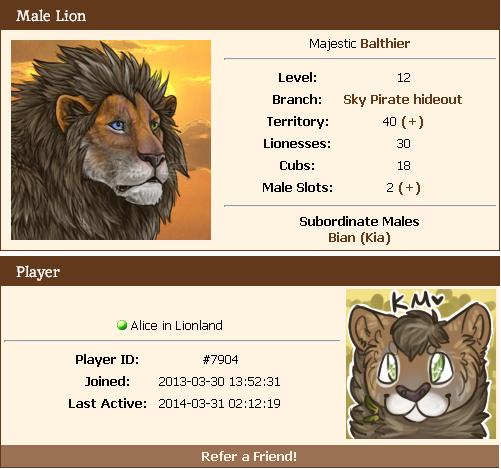 Así que, ¿te gustan los juegos de leones realistas? ¡Conoce Lioden! Lioden6_zps3f8cc74a