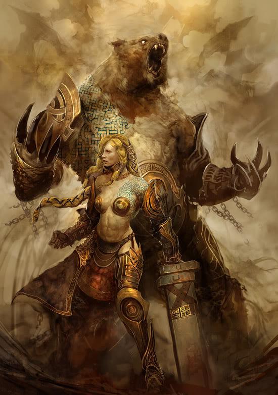 Lady Elizabeth Shane Fantasy-bear-girl
