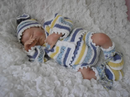 hand knitted baby for 18-20 inch baby boy, 11/27/10 to 12/1/10 Piersset