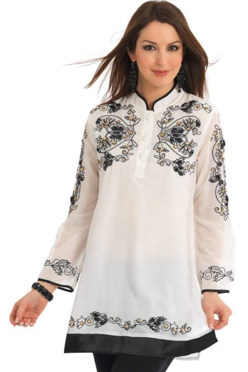 Beautiful Embroidery Kurtas ( Cool Pictures ) 2rfv7g3