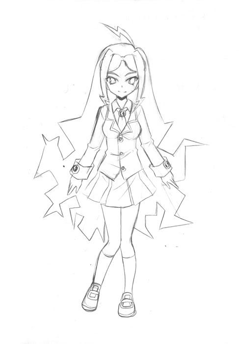 [Character]  Litcht สาวน้อยเม่นไฟฟ้า [Not Intro] Ecd15e48