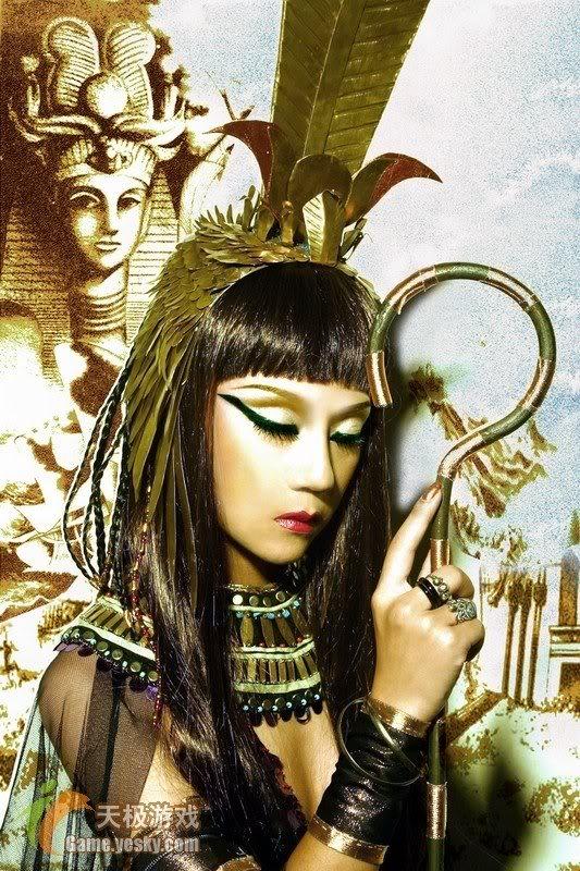 [Cosplay] Nữ hoàng Ai Cập Aas