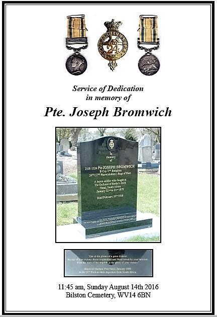 Private Joseph Bromwich, Defender of Rorke's Drift memorial Head%20stone1%202_zpsa5havhqr