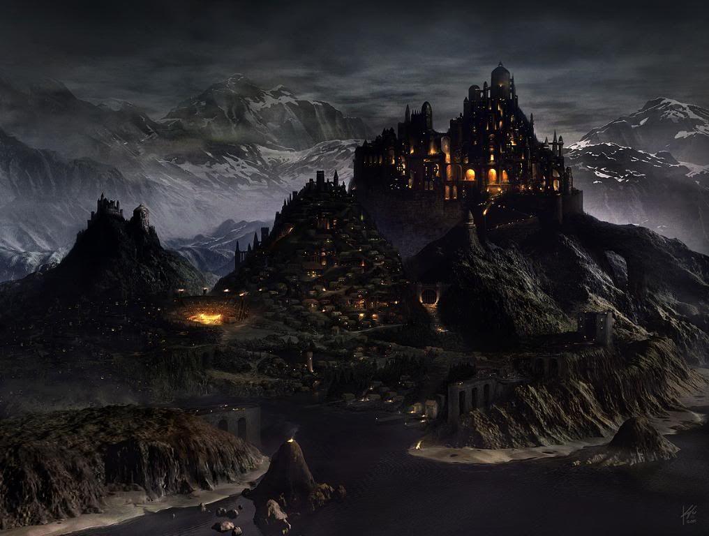 Vilarejo de Tayroh Medieval_city_by_Geistig