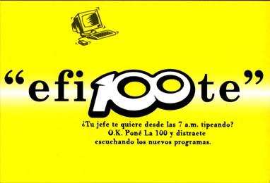 Publicidades de La 100 (2001) LA100-3