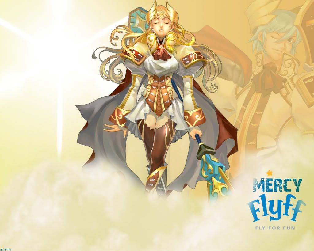 Fly For Mercy pic for login screen and others FlyFF_Wallpaper_by_ikittty