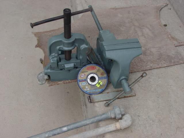 prensa - Construcción de tripíé para prensa manual de tubos. DSC07898