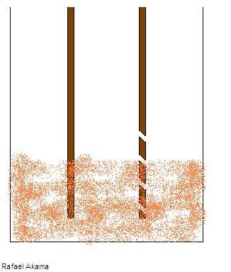 Filtro de areia fluidizada com Pote de Macarrão Furos