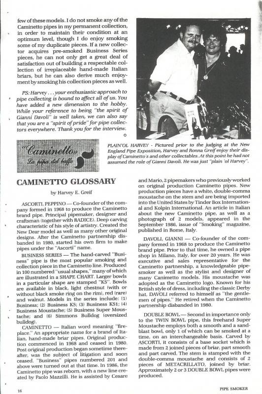 The History of Caminetto (shapes, stamping, articles, etc.) CAMINETTO--HarveyGreif--PipeSmokerKolpinInternational--06_zpse828b063