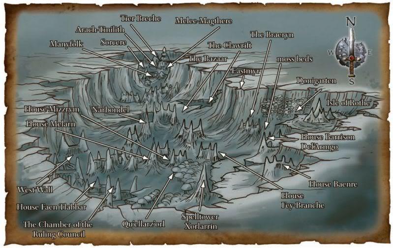 Maps of Menzoberranzan