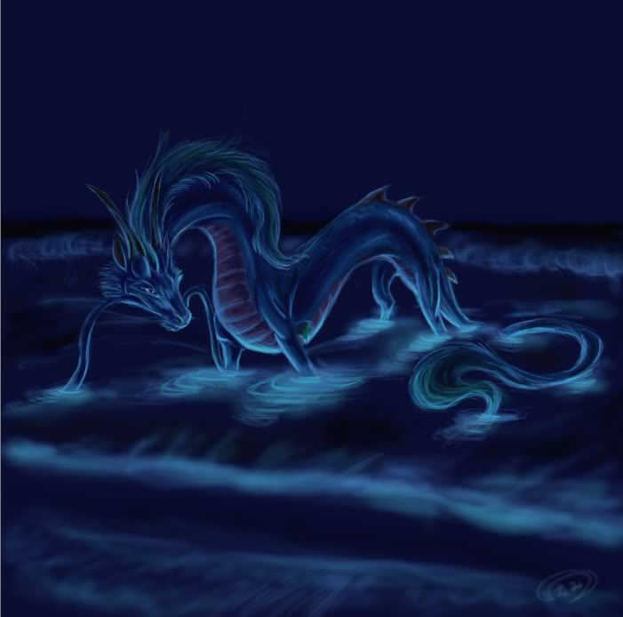 Dragons d'Eau Bioluminescene