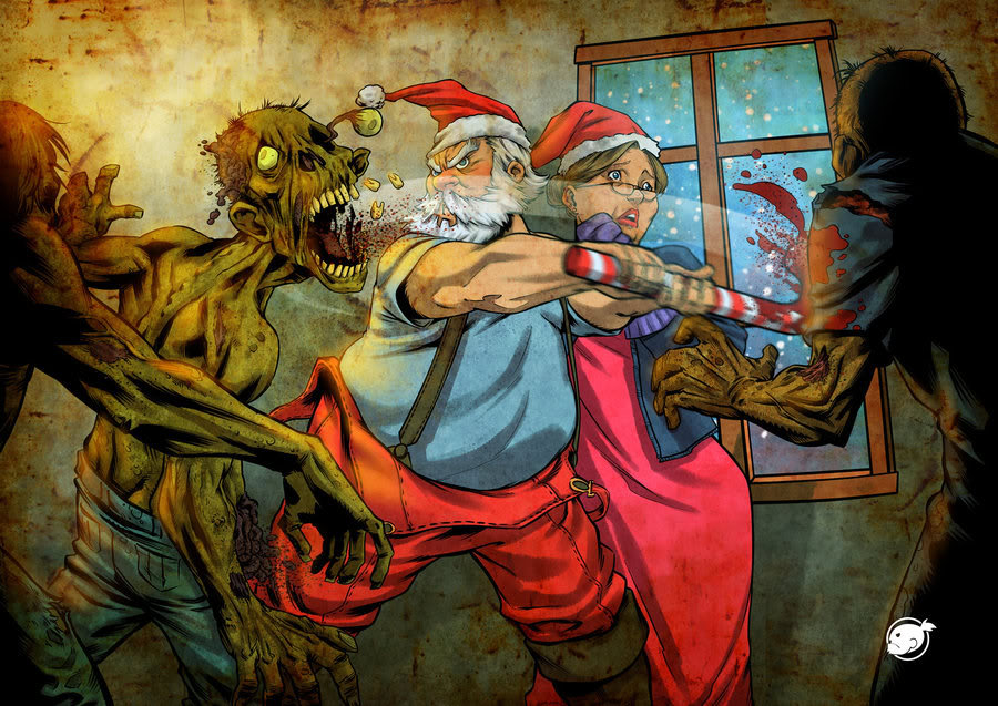 Avatar del mes de Diciembre Santa_against_zombies_by_WakaBee