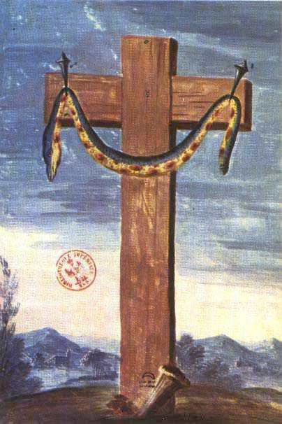Question about Alchemical Sign (Crucified Serpent) Flamel-5
