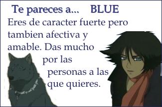 ¿A que personaje de wolf´s rain te pareces? Blue