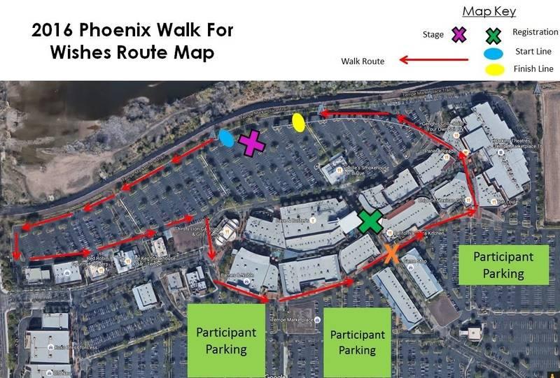 Walk for Wishes Phoenix - Sunday, Oct 2, 2016 2016PhoenixWalkForWishesMap