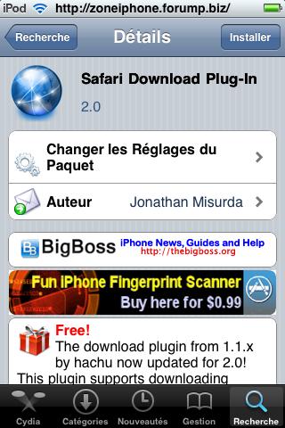 Télécharger Torrent directement depuis iPhone / Itouch 2