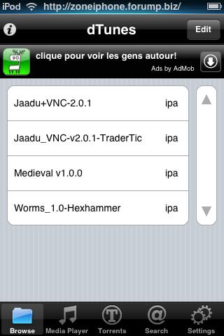 Télécharger Torrent directement depuis iPhone / Itouch 5