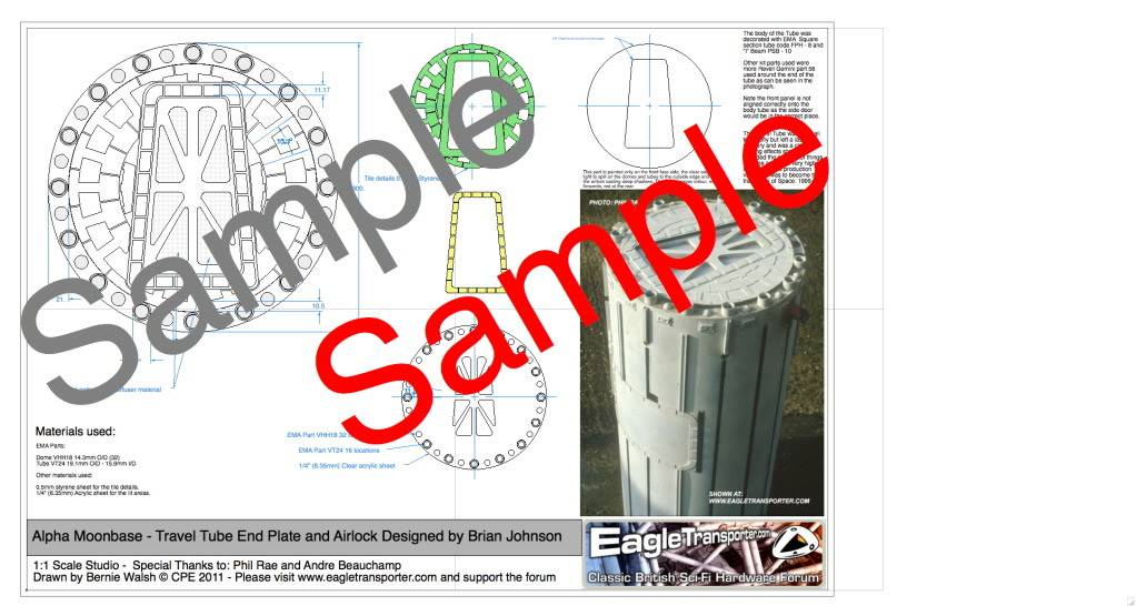 For Sale : Studio Scale A1 full colour Blueprints - Space 1999 Main Mission & Travel Tube 15272e28