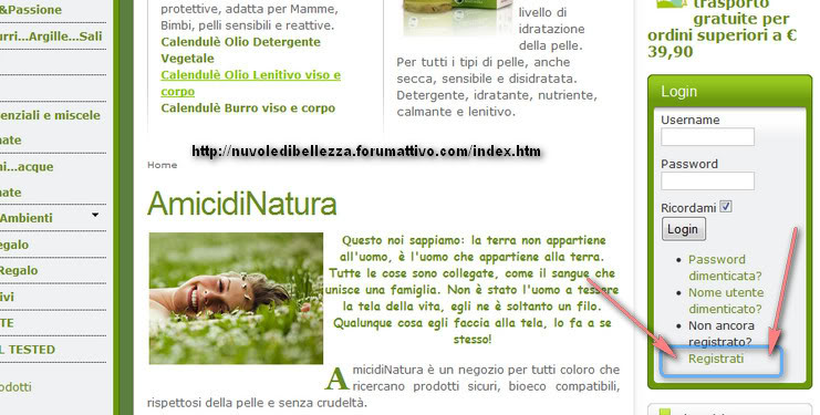 Solo per i nostri utenti, sconto sul sito amicidinatura.it 2010-03-23_160751