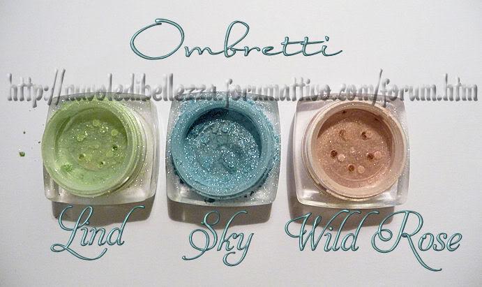 Ordine da Elemental Cosmetics-Gminerals Ondina_ombretti_gm
