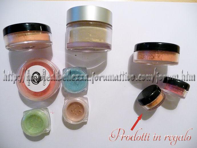 Ordine da Elemental Cosmetics-Gminerals Ondina_prodotti