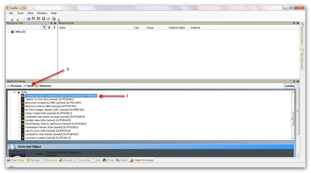 Basic Furniture Recolouring Using SimPE & Gimp Snap_20111031_16h34m29s_010_SimPe-