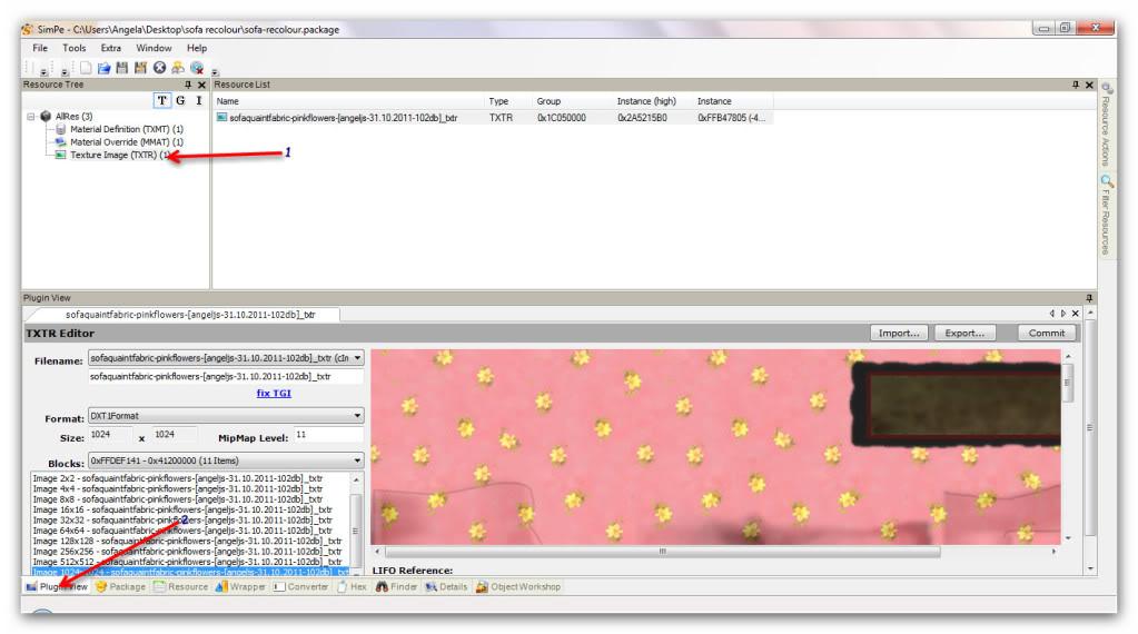 Basic Furniture Recolouring Using SimPE & Gimp Snap_20111031_16h47m07s_014_SimPe-C--Users-Angela-Desktop-sofarecolour-sofa-recolour-package